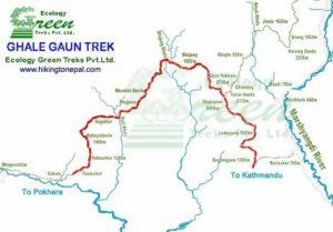 Ghale Gaun Trekking Map