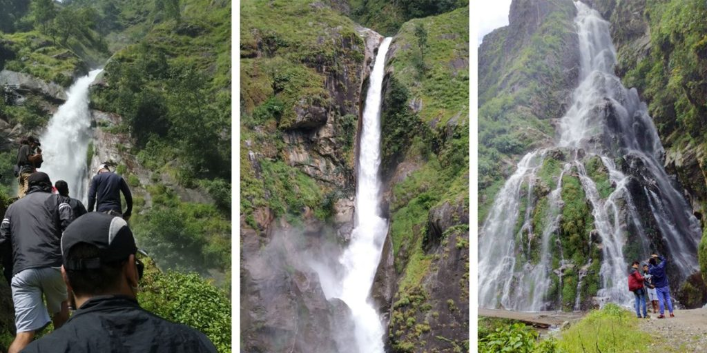 Fascinating water falls on the way to Manang