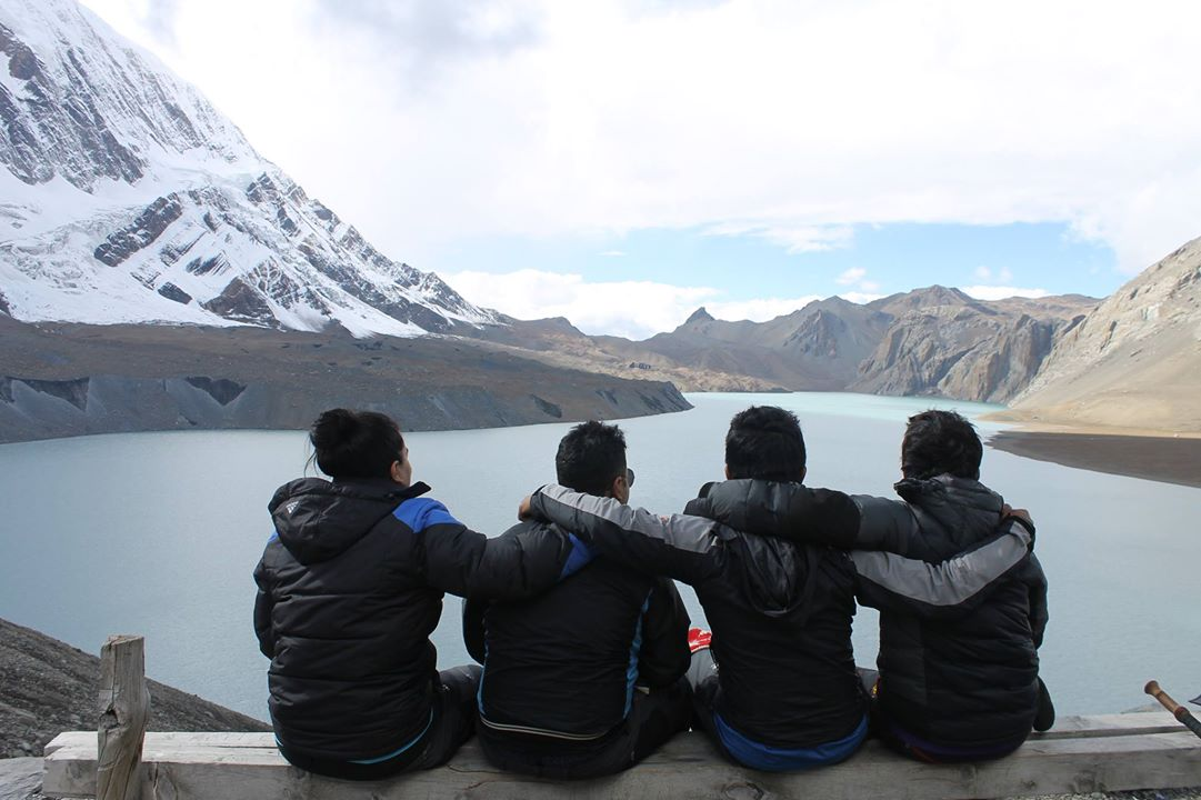 Posing at Tilicho Lake