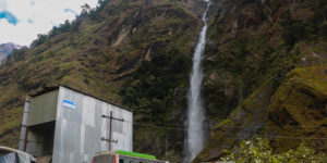 waterfall at gongar khola