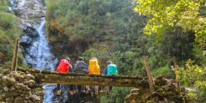 waterfall of Tsho Rolpa Trail