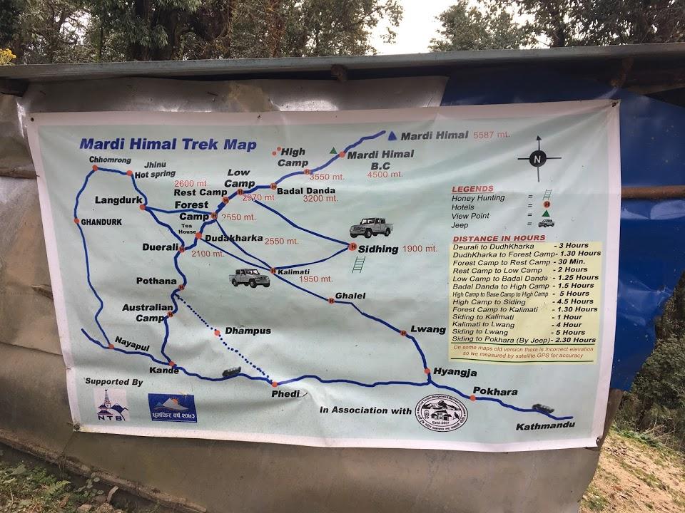 Mardi Trek Map Outline